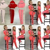 """Стильний Костюм """"Модняшка """"спортиві штани і топ на зріст 98-140 см"""