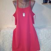 Красивое платье с открытыми плечиками 14/42 размера.