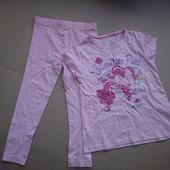 My little pony летний комплект лосины и футболка 98-104