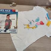 Сток!!! Лот из 2 суперовых коттоновых футболок для девочки! 122/128!