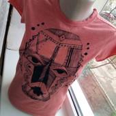 Скидка УП-10%. Оригинальная футболка с необычным принтом, 100 % котон, Effigy . размер S, 42,44.