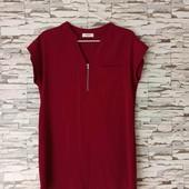 Красное платье-блузка в идеальном состоянии