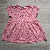 Фирменное новое трикотажное платье со свинками Пеппи р.2-3года