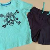 Lupilu костюм футболка и шорты мальчику 110-116 см