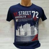 Крутые футболки. 100%коттон. Турция. цвет Ярко Синий