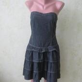 Платье-бюстье джинсовое в отличном состоянии