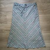 Фирменная новая красивая юбка-макси из натуральных материалов р.12-14