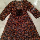 Легкое красивое шифоновое платье М