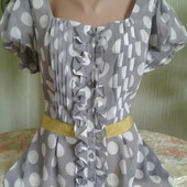 Новая женская шифоновая блузка р.16!!!