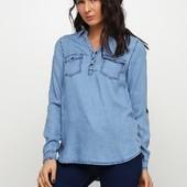 Шикарная джинсовая рубашка от Esmara (Германия), размер евро 44
