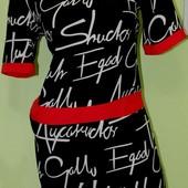 Модное платье, размер 46-48 наш, есть замеры