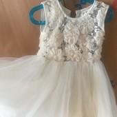 Нарядное платье с накидкой-шубкой-болеро!!!