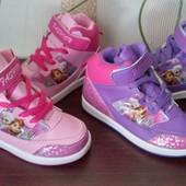 Стильные хайтопы-кроссовки Frozen для модняшек, р.34-36, 2 цвета. Лот 1 пара на выбор