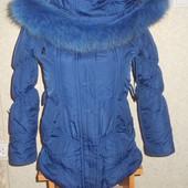Зимняя курточка с песцом. 32 размер