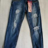Нові! Круті джинси бойфренди на дівчинку 4-5 років!