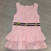 Платье / сарафан из плотной ткани на подкладке, 5-6лет