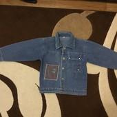 Джинсовый пиджак 116-122 см
