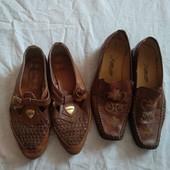 Хорошие туфли ✓Одни Кожаные✓2пары в лоте✓Стелька 25см.Много лотов✓
