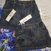 Юбка джинсовая один размер на выбор (92 см или 110)