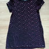 Глиттерное платье с блесками.5 лет.