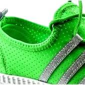 Яркие летние текстильные кроссовки с перфорацией 37,38,39