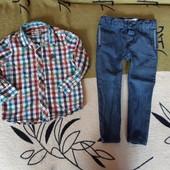 Рубашка и джинсы lc waikiki, одним лотом, рост 92-98 см, состояние нового