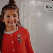 Lupilu легкая кофта-кардиган малышке 86-92 см-большемерит