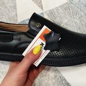 Летние мужские мокасины, туфли в дырочку. 40