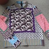 Стильная яркая фирменная блуза Marni
