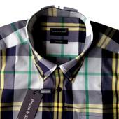 Мужская сорочка с коротким рукавом Bruun&Stengade (Дания) размер 40, 42 на выбор