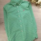 Стильная рубашка для мальчика 8лет. Ориентироваться на замеры. Ralph Lauren.Отличное состояние