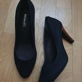 Шикарные лодочки! Туфли натуральный нубук и кожа от Minelli. 38 р.