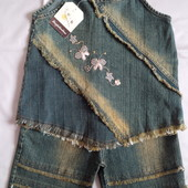 Новые красивые джинсовые наборы для девочек. Модель на выбор.