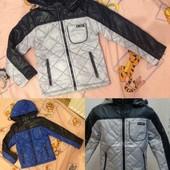 Супер-цена! Демисезонные стеганные курточки 2, 3, 4 года, два цвета.Курточка имеет сьемный капюшон