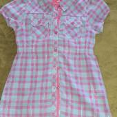 Модная, стильная, рубашка- туника, р.122