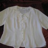 Блуза белого цвета, ХЛ
