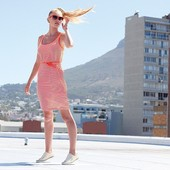 Яркое летнее платье Esmara размер s (36-38)нет пояска