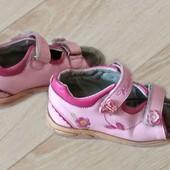 Босоножки сандалии на липучках, стелька 18 см