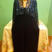 Прикольное нарядное вилюровое платье!Смотрите замеры!