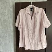 Фирменная новая красивая льняная блуза-кардиган р.22-26