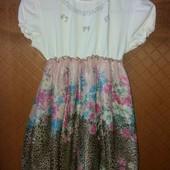 Красиве літнє плаття на 7-8 років без нюансів!