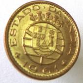 монета Индия португальская 10 сентаво, 1961