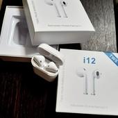 Беспроводные Bluetooth наушники original i12 tws V5.0 Airpods
