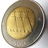 монета Сан-Марино, 500 лир 1987