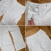 Брюки лен + рубашка на кнопках! Отличное сост!!! Замеры
