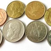 монеты стран южной Европы до евро, 8 шт одним лотом
