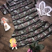 Летнее платье на девочку 10-11 лет, 140-144 см