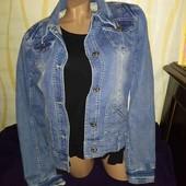 Джинсовый пиджак 48 р.