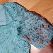 Шикарна ажурна блуза фудболка. Грудь 102-106см