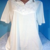 Классная белоснежная блуза в идеальном состоянии! 65%хлопок